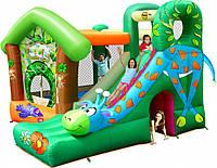 """Детский надувной Игровой центр """"Веселый жираф"""" 9139 горка, баскетбольное кольцо, взбирание по стене, батут"""
