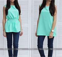 Блуза женская Элин мята , женская одежда