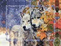 Картина из бисера Идейка Пара волков (ВБ1047) 30 х 40 см