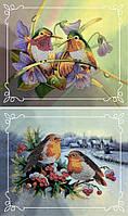 Набор для вышивки бисером Идейка Пара птиц № 1 (Две картины в наборе) (ВБ2000) 2 х 20 х 24 см