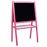 Мольберт для рисования с магнитной стороной (ВК-08)  розовый