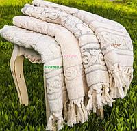 Банное полотенце  из хлопка и тенсела 90х150 Buldans Toprak молочное/ментоловое