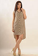 Платье-рубашка Лео цвета: беж