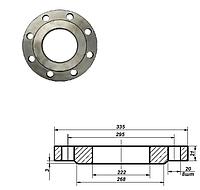 Фланец плоский стальной Ду 200 мм Ру 10 атм