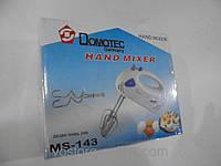 Бытовой ручной миксер Domotec MS 143, миксеры для замеса теста, бытовая техника для кухни мелкая,ручной миксер