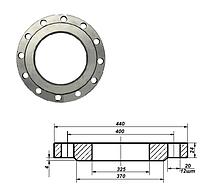 Фланец плоский стальной Ду 300 мм Ру 10 атм