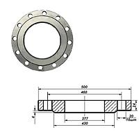 Фланец плоский стальной Ду 350 мм Ру 10 атм