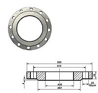 Фланец плоский стальной Ду 400 мм Ру 10 атм