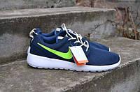 Женские кроссовки Nike Roshe Run Blue Light Green