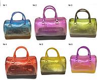 Сумка женская  117 саквояж силиконовый среднего размера разные цвета
