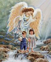 """Набор алмазной вышивки (мозаики) икона """"Ангел детей хранитель"""""""