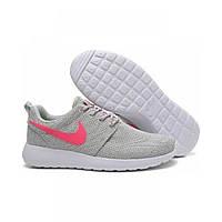 Женские кроссовки Nike Roshe Run Grey Pink