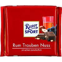Молочный шоколад Ritter Sport Rum Trauben Nuss