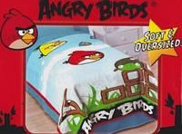 Плед детский Angry Birds Blanket Twin. Подушка в подарок.