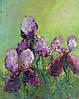 «Ирисы. Яркие краски весны...» картина маслом