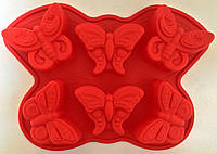 """Форма силиконовая """"Бабочки"""" 6 шт. (код 04962)"""