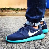 Мужксие кроссовки Nike Roshe Run All Blue