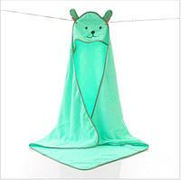 """Детское полотенце для купания. Уголок """"Мишутка"""". Полотенце с капюшоном. Пончо детское"""