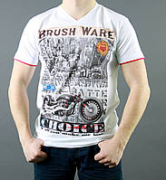 Крутая мужская летняя футболка белого цвета