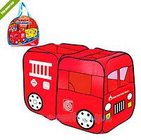 Палатка детская игровая Пожарная машина в сумке M 1401