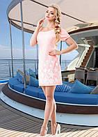 Летнее Легкое Платье Морское Розовое  р. S - XL