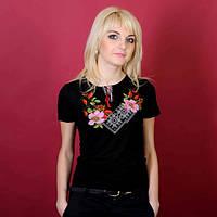 Женская вышиванка короткий рукав Шиповник до 56 размера