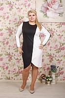 Женское красивое стильное женское платье Два цвета белый + черный размер 56
