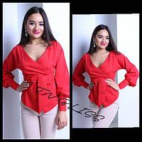 Блуза с поясом разные цвета