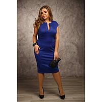 Женское трикотажное платье короткий рукав Сандра размер 48-72