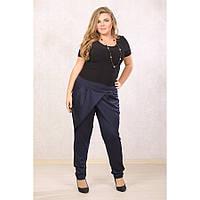 Женские брюки больших размеров Лилиа цвет темно синий размер 48-72