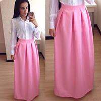 Длинная юбка из габардина