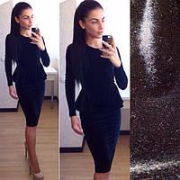 Шикарное платье из велюра