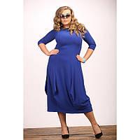 Женское красивое платье Тюльпан цвет электрик размер 48-72