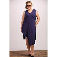 Женская удлиненная туника Бостон цвет темно синий размер 48-72