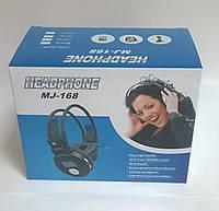 Наушники беспроводные EJ 168 со встроенным MP3 плеером + дисплей