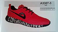 Прогулочные мужские кроссовки Demax красные сетка недорого летние 7 км 1489|01649