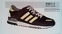 Мужские кроссовки повседневные Veer  Demax черный с желтым сетка недорого летние 7 км 1489|01655