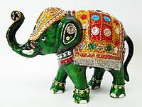 "Слон металл бисер (25,5х18х9 см)(clr 12"")"