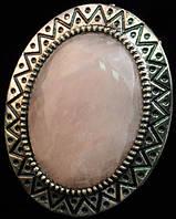 Кольцо Розовый кварц