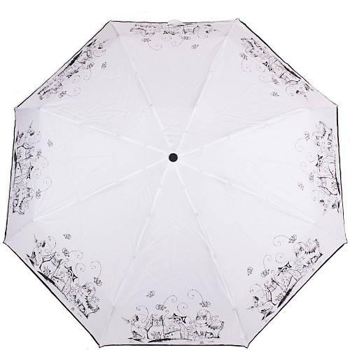 Зонт женский компактный автомат ZEST (ЗЕСТ)  Z24759-5 Белый Антиветер