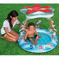 Детский надувной бассейн «Морская звезда» Intex с навесом