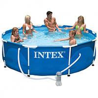 Каркасный бассейн METAL FRAME POOL Intex 366х76см. с насосом-фильтром