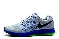 Кроссовки Nike Zoom Pegasus, мужские, cерые с синим, р. 40 41 42 43 44