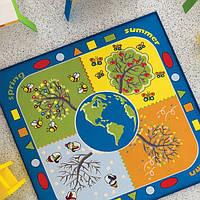 Ковер в детскую комнату Confetti Four Seasons (голубой) 133х133