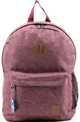 Компактный городской рюкзак из меланжа 14 л. Bagland 533692-2, вишневый