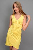 Коктейльное  платье  для девушки цвет желток