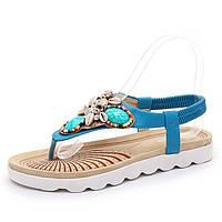 Красивые женские сандалии -шлепанцы бисер-камни 2 цвета