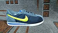 Кроссовки Nike Cortez  женские повседневные городские и для бега синие с серым