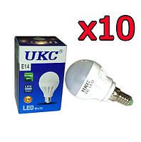 10шт Светодиодная LED лампочка UKC E14 3W