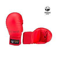 Перчатки Adidas Tokaido c защитой пальца WKF 2012-2015 красные